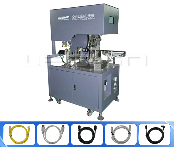 Full-automatic circle double ligation wire binding machine